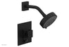 "JOLIE Pressure Balance Shower and Diverter Set (Less Spout), Square Handle with ""Black"" Accents 4-678"