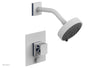 "JOLIE Pressure Balance Shower and Diverter Set (Less Spout), Square Handle with ""Navy Blue"" Accents 4-678"