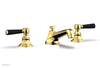HEX TRADITIONAL Widespread Faucet - Satin Black Lever Handles 500-02