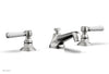HEX TRADITIONAL Widespread Faucet - Satin White Lever Handles 500-03