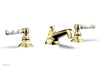 HEX TRADITIONAL Widespread Faucet - White Marble Lever Handles 500-03