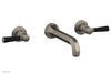 HEX TRADITIONAL Wall Tub Set - Satin Black Lever Handles 500-57
