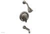 HEX TRADITIONAL Pressure Balance Tub and Shower Set - Satin Black Lever Handle 500-27