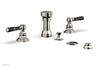 HEX TRADITIONAL Four Hole Bidet Set - Black Marble Lever Handles 500-62
