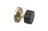 FRIENZE BLACK ONYX Door Knob & Rose 5140