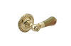 PAKISTAN GREEN ONYX Door Lever & Rose 5190