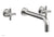 "Basic Wall Tub Set 12"" Spout - Tubular Cross Handles D1134-12"