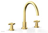 BASIC Deck Tub Set - Tubular Cross Handles D1134C