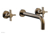"Basic Wall Tub Set 10"" Spout - Blade Cross Handles D1137-10"