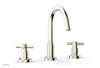 "BASIC Widespread Faucet, 8 1/2"" High Spout, Tubular Cross Handles D135"