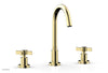 "BASIC Widespread Faucet, 10 1/2"" High Spout, Blade Cross Handles D137"