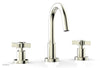 "BASIC Widespread Faucet, 8 1/2"" High Spout, Blade Cross Handles D138"