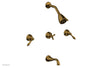 REVERE & SAVANNAH Three Handle Tub and Shower Set D2100