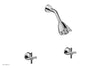 BASIC Two Handle Shower Set - Tubular Cross Handles D3134
