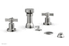 BASIC Four Hole Bidet Set - Blade Cross Handles D4137
