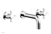 "BASIC Wall Lavatory Set 7 1/2"" Spout - Blade Cross Handles DWL137"