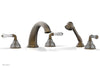 MIRABELLA Deck Tub Set with Hand Shower - Lever Handles K2234P1