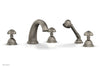 GEORGIAN & BARCELONA Deck Tub Set with Hand Shower - Round Handles K2361P1