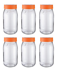 Load image into Gallery viewer, Le Parfait Orange Screw Top Jars