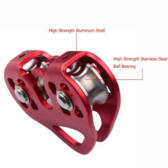 Rock Climbing Rescue Dual Pulley 25KN /5600Lbs - Go Outdoor Life
