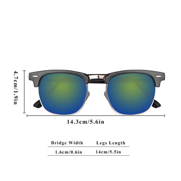 UV400 Half Frame Sunglasses - Go Outdoor Life