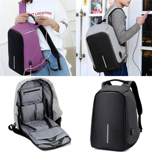 Anti-theft Backpack With USB Port - Go Outdoor Life