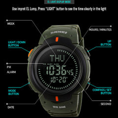 50M Waterproof Compass Outdoor Watch - Go Outdoor Life