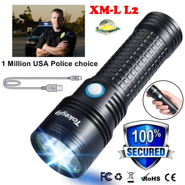Portable XML-L2 USB LED Flashlight - Go Outdoor Life