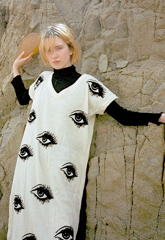 EYE PRINTED KAFTAN