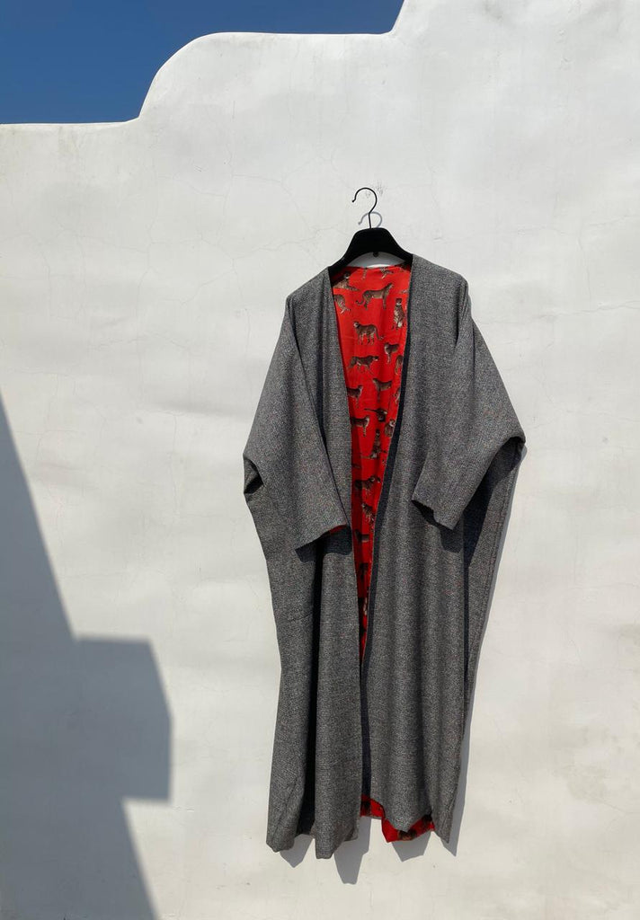 Tweed abaya with lining 1