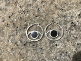THIRD EYE HOOPS ONYX