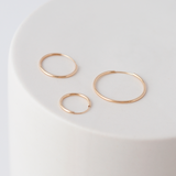 14k yellow gold hoops per piece