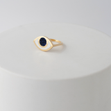 Gold Third Eye ring- Goldstone