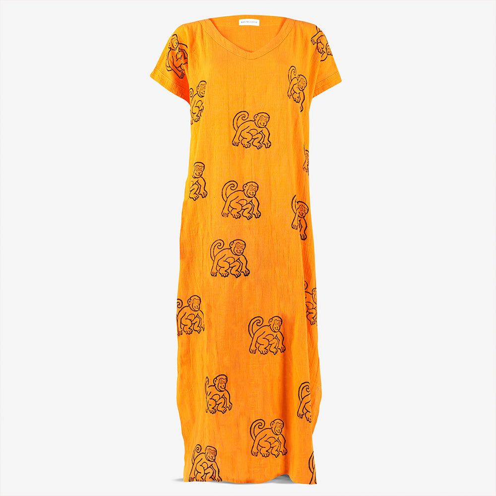 MONKEY PRINTED KAFTAN
