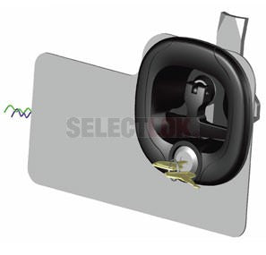 Midnight Series Central Locking Folding T Handle - Black-Chrome - Key lockable