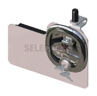 Midnight Series Central Locking Folding T Handle - Black-Chrome - Padlock and Key lockable