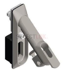 IND-B Series Swing Handle - Black Chrome - High Security