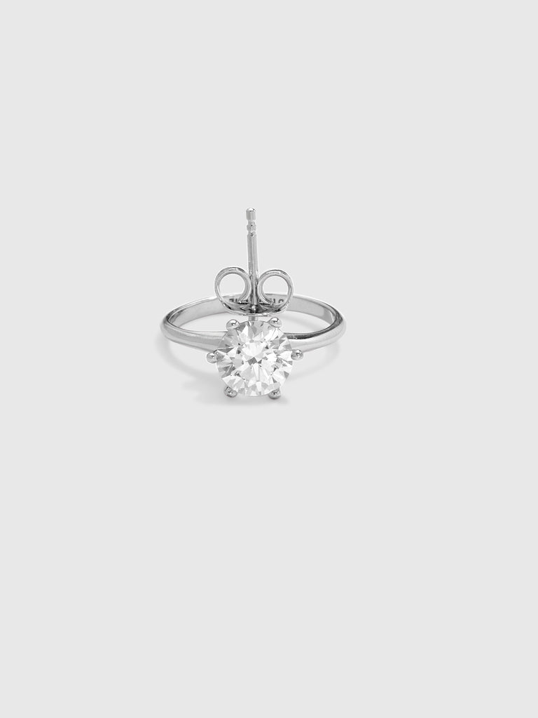 D'Heygere Silver Crystal Ear(Ring)
