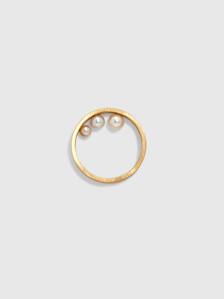 Lia di Gregorio Gold Band with Hidden Pearls