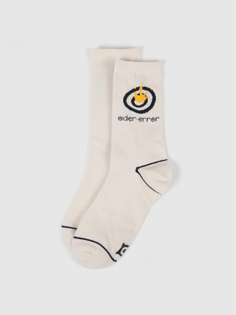 Ivory Logo Socks - 10 Corso Como New York