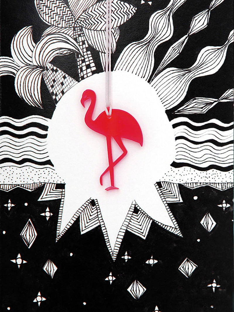 Flamingo Greeting Card with Envelope - 10 Corso Como New York