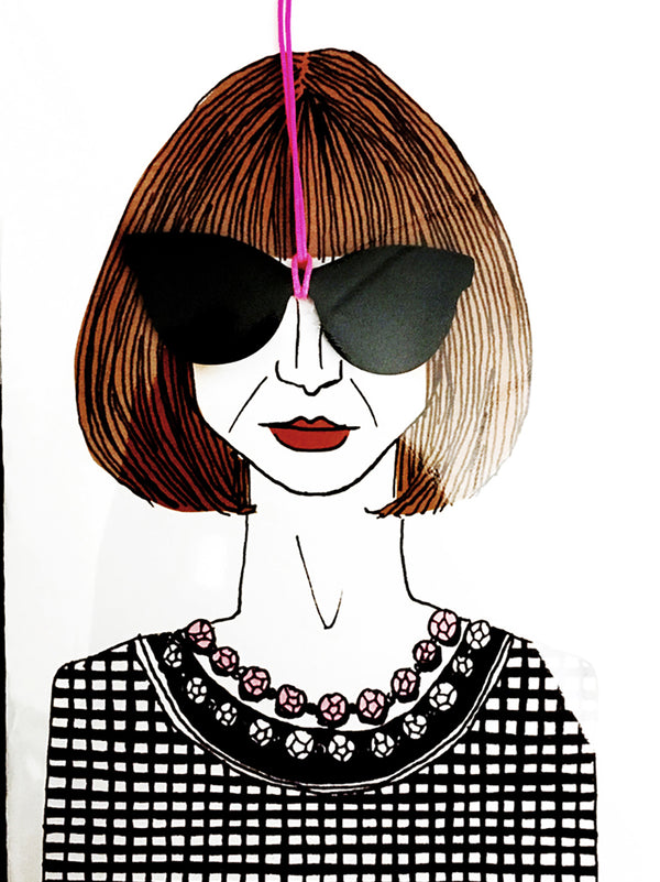 Anna Wintour Greeting Card with Envelope - 10 Corso Como New York