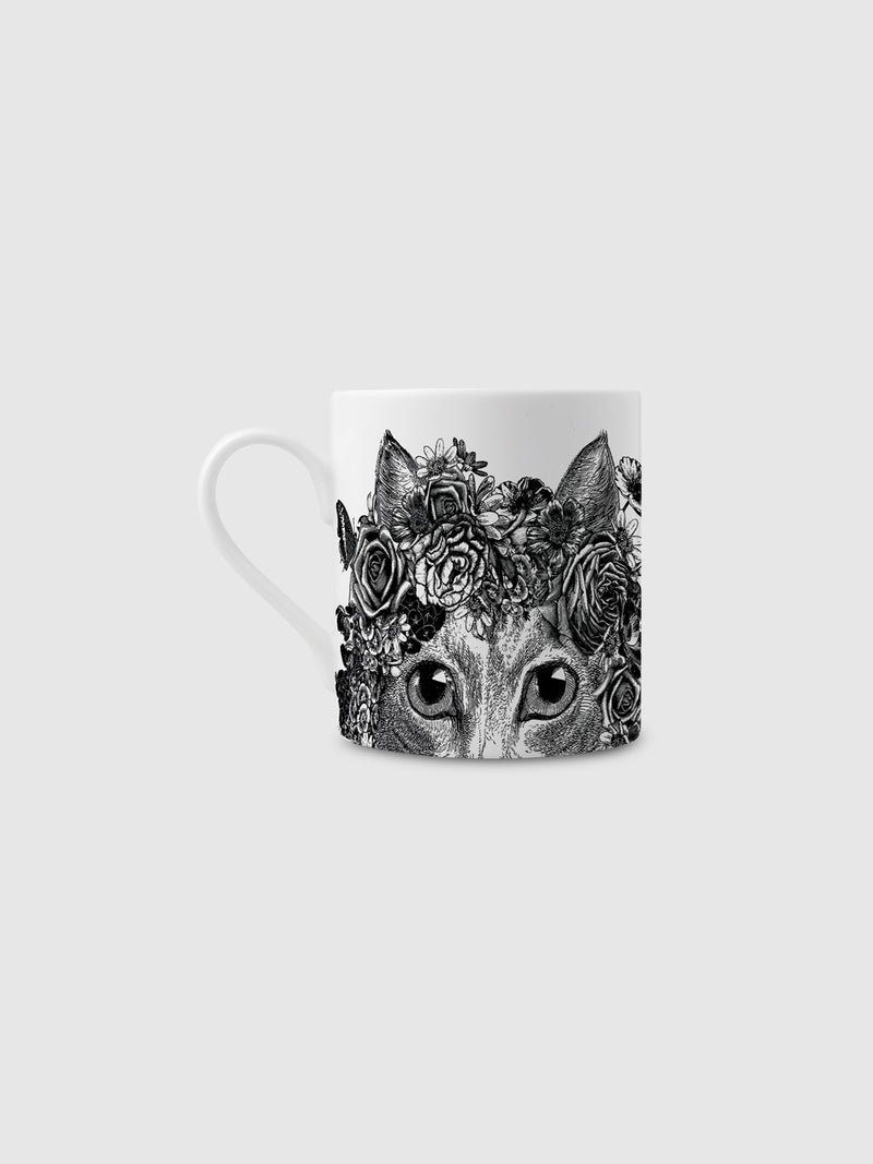Flower Cat Fine China Mug - 10 Corso Como New York