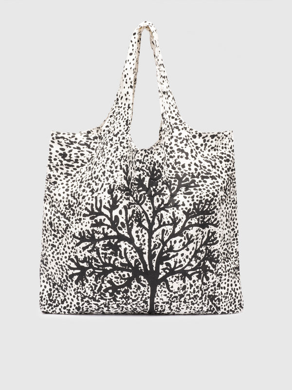 Ecru Kyoto Tree Print Bag - 10 Corso Como New York