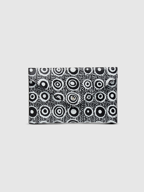 Iconic Dot Leather Envelope with Black Interior - 10 Corso Como New York