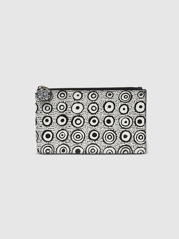 Iconic Dot Zip Pouch with White Interior