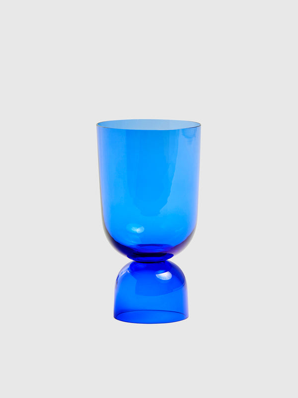 Small Blue Glass Bottoms Up Vase - 10 Corso Como New York