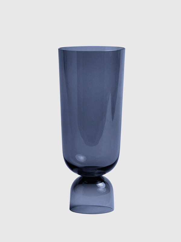 Large Navy Glass Bottoms Up Vase - 10 Corso Como New York