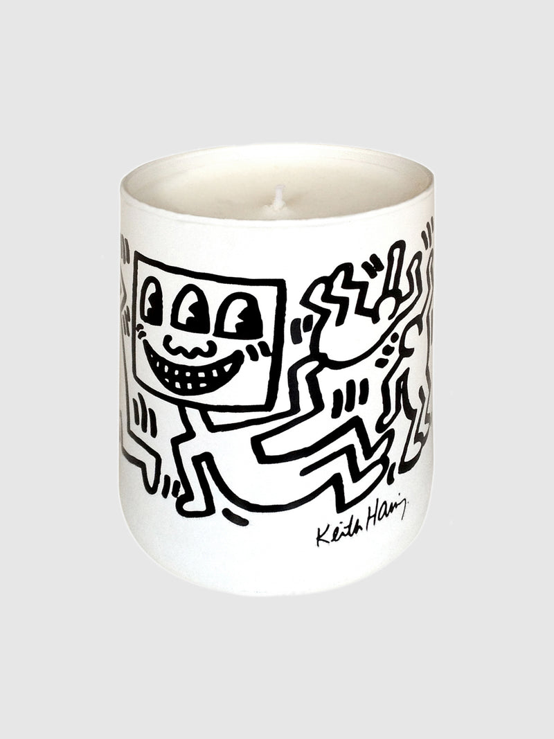 White with Black Drawing Candle by Keith Haring - 10 Corso Como New York