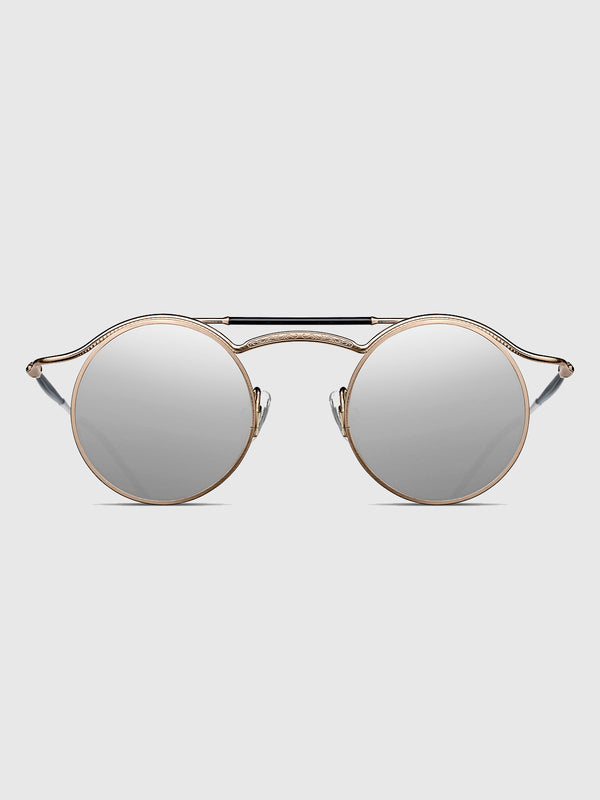 Matsuda Rose Gold Round Sunglasses - 10 Corso Como New York